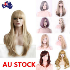 19Style Women Straight Curly Wavy Long Short Bobo Hair Cosplay Party Wig+Wig Cap