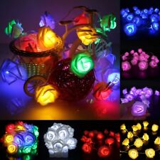 Fairy String Lights Rose Flower 20 LED Battery Operated Decorative Lighting