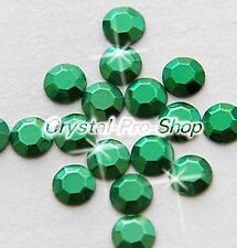 Green Iron On Faceted Hot Fix Rhinestud Aluminium Craft stud DIY 2mm 3mm 4mm 5mm