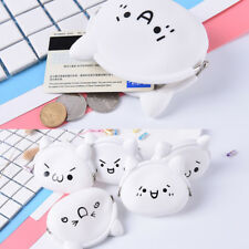 Cute Face Ladies Kids Silicone Coloured Coin wallet Jelly Purses Jewelry-Key Bag