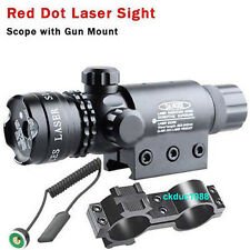 Hunting RED DOT SIGHT/RED LASER +QD MOUNT 20mm Rail For Scopes W/ Switch 心