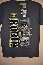 ROBIN/THE LEGO BATMAN MOVIE-BOYS SIZE 10/12-LICENSED SHORT SLEEVE-NWT-GRAY