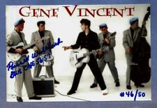 1956 RUSSELL Williford SIGNED GENE VINCENT Blue Caps PHOTO Fender ESQUIRE U-PICK