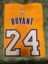 Lot of 2 Kobe Bryant #24 Lakers Adidas Net T-SHIRT AND Lakers Shirt in SMALL