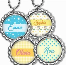 Custom Name Kids Bottle Cap Necklace w/Chain Handcrafted Personalized Gift