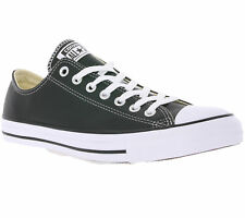 Converse All Star Chuck T Ox Shoes Real Leather Sneaker Trainers Black Sale