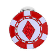 Perfeclan Novelty Alloy Golf Ball Marker Hat Clip Durable Golf Gift Red
