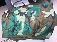 Poncho Liner Woobie Blanket US Military Woodland Tri-color Camo Army