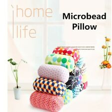Microbead Roll Pillow Cushion Mini Neck Back Waist Support Bed Sofa Office Rest