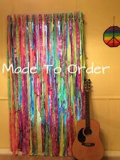 Multi Color Tie Dyed Hippie Curtains (Gypsy, Boho, Beach, Shabby, Shower)