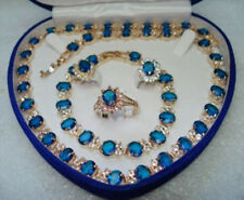 Fashion Set 18K Gold Plated Women  Jewelry Necklace Earring Breacelet Rings
