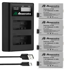 LP-E8 Battery + LCD Dual Charger For Canon Rebel T3i T2i T5i T4i EOS 550D 700D