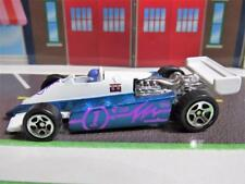 CHINA WHITE BLUE PURPLE INDY STYLE RACE CAR HOT WHEELS LOOSE 1/64 DIECAST CAR