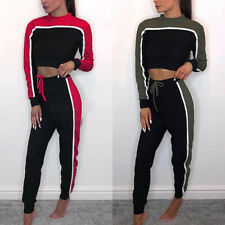 2Pcs Women Tracksuit Sweatshirt Pants Sets Sport Lounge Wear Cotton Casual Suit