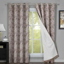 Bali Set of 2 100% Blackout Curtains Upscaled Abstract Thermal Insulated Grommet