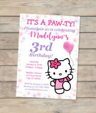 Hello Kitty Invitation, Hello Kitty Birthday Party Invite, Hello Kitty Party
