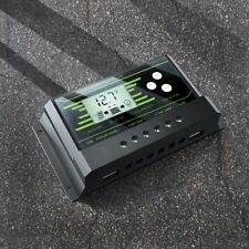 10/20/30A 12V 24V Solar Panel Charger Controller Battery Regulator Dual USB LCD