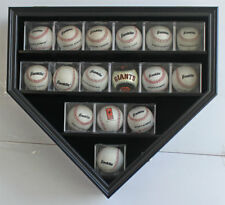 Baseball & Balls in Cube Display Case Wall Cabinet Shadow Box, B09-