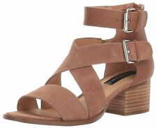 STEVEN by Steve Madden Womens Elinda Suede Open Toe Casual Ankle Strap Sandals