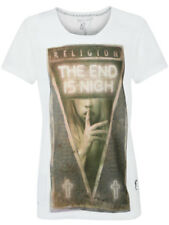 Religion Clothing Men's T-Shirt The End in White Top True Fit Death Art NEW