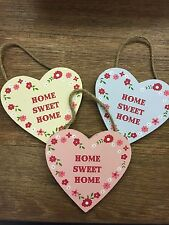 Sass & Belle Ditsy Heart HOME SWEET HOME Pink / Blue / Yellow Floral Sign NEW