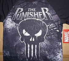 MARVEL COMICS 2 Sided Punisher Movie Skull Guns Super Hero T Shirt Mens S-L New