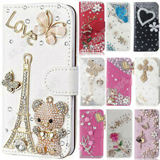Luxury Magnetic Cover Stand Wallet Bling Leather Case For iPhone 6/6S/7/8 Plus/X