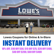 Lowes Coupons - Online & In-Store Purchase