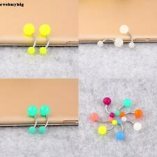 Noctilucent Acrylic Belly Button Ring Barbell Belly Navel Ring Body EE6