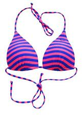 Rip Curl LOVE N SURF MOULDED TRI Separate Bikini Top New - Blue/Pink