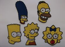 The Simpsons patches Homer, Marge, Bart, Lissa, Maggie, sew on patches