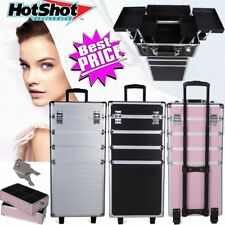 Pro 4in1 Rolling Makeup Cosmetic Train Case Wheeled Box Trolley Organizer 3Color
