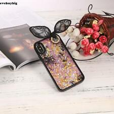 3D Rabbit Ear Quicksand with Sequins Stars Hard Case with Bead Sling For EE6