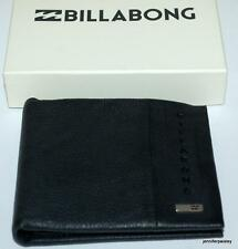 billabong WALLET mens  NEW EMPIRE Genuine CHARCOAL Real Leather SURF Bifold LOGO