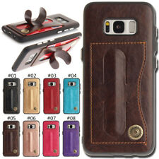 Card Slot TPU + PU Leather Soft Back Case Cover Stand Skin For Samsung Galaxy