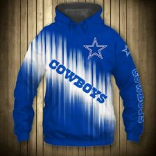 DALLAS COWBOYS Hoodie Hooded Pullover S-5XL Football Team Fans NEW Designs