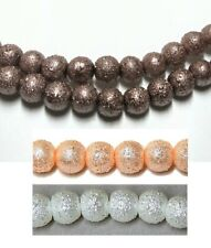 GLASS PEARL BEADS ROUND TEXTURED 6mm CELESTIAL CRYSTAL® CHOICE OF COLORS strand