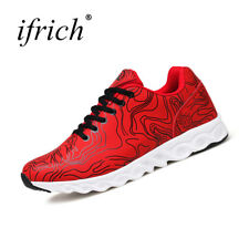 2017 Hot Sale Shoes for Men Running Lace Up Sport Sneakers Mens Red Blue Male