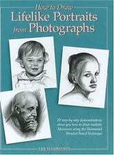 NEW How to Draw Lifelike Portraits from photographs  Lee Hammond 1995, Hardcover
