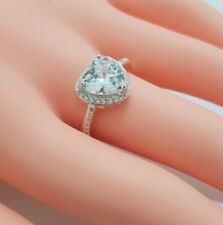 Ladies Sterling 925 Solid Silver Brilliant Cut 1 Carat Diamound Solitaire Ring