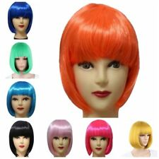 US Women Full Bangs Wig Short Wig Straight BOB Hair Party Cosplay Costume Gift