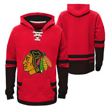 Chicago Blackhawks Vintage CCM Pullover Hooded Sweatshirt  - Red