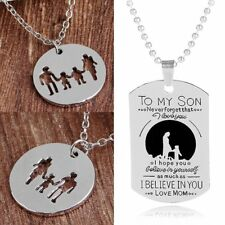 To My Son Love MOM Chain Pendant Necklace Women Jewelry Family Mother's Day Gift