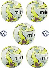 5 x MITRE MAGMA TRAINING FOOTBALLS - WHITE/YELLOW/PURPLE - Sizes 3 and 4