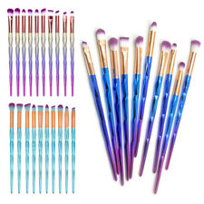 10PCS Diamond Eyeshadow Eyebrow Blending Brush Set Eye Makeup Brushes Cosmetic