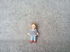 Miniature HANDMADE OOAK  Baby GIRL CHILD toy 1/12th Scale Dolls House