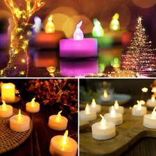 LED Tea Light Candles Battery Operated Tealights Flameless Flickering for Decor