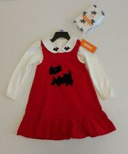 NWT Gymboree Red Scottish Terrier Dress Set with Matching Tights- Size 3T or 6