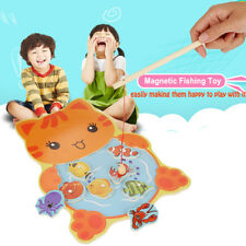 Baby Wooden Magnetic Fishing Toys Jigsaw Puzzle Board Education Toy For Child CO