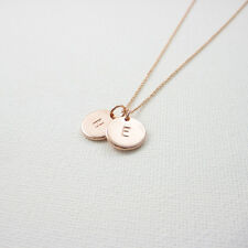 Personalized Disc Necklace, Rose gold Initial Necklace, From $9.99, 1 2 3 discs